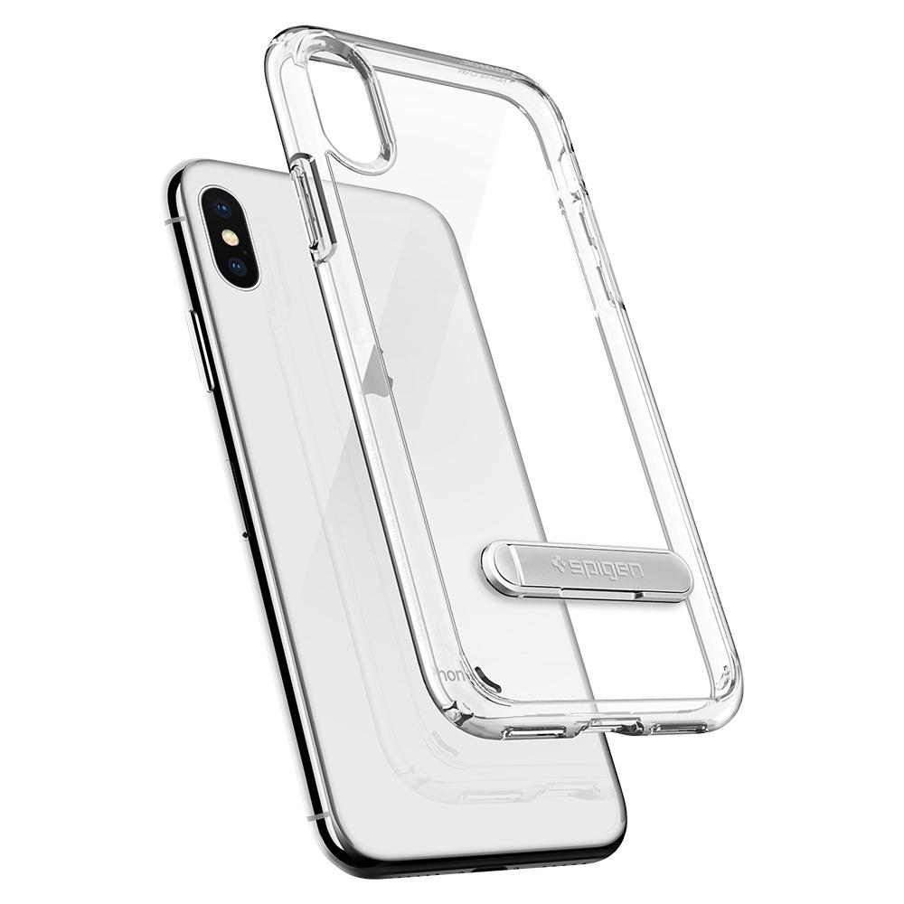Ultra Hybrid S	Crystal Clear	Case	back design and a back view of the	iPhone XS/X	device.