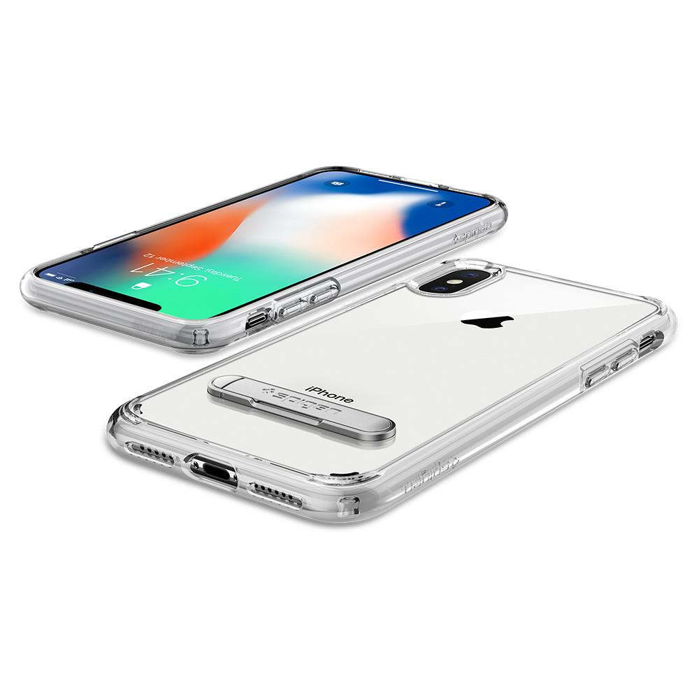 Ultra Hybrid S	Crystal Clear	Case	back design and the front view of the	iPhone XS/X	device.