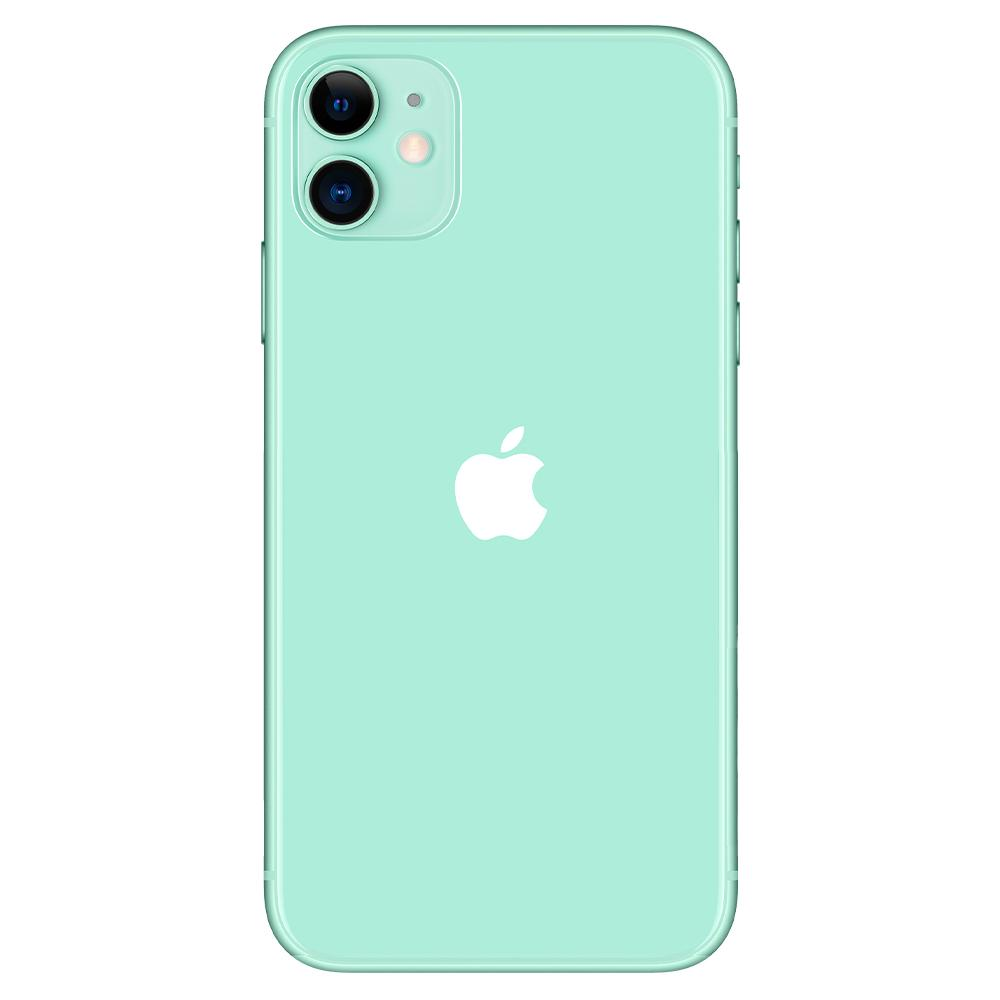 Green iPhone 11 Full Cover Camera Lens Screen Protector showing the lens protector on device camera lens