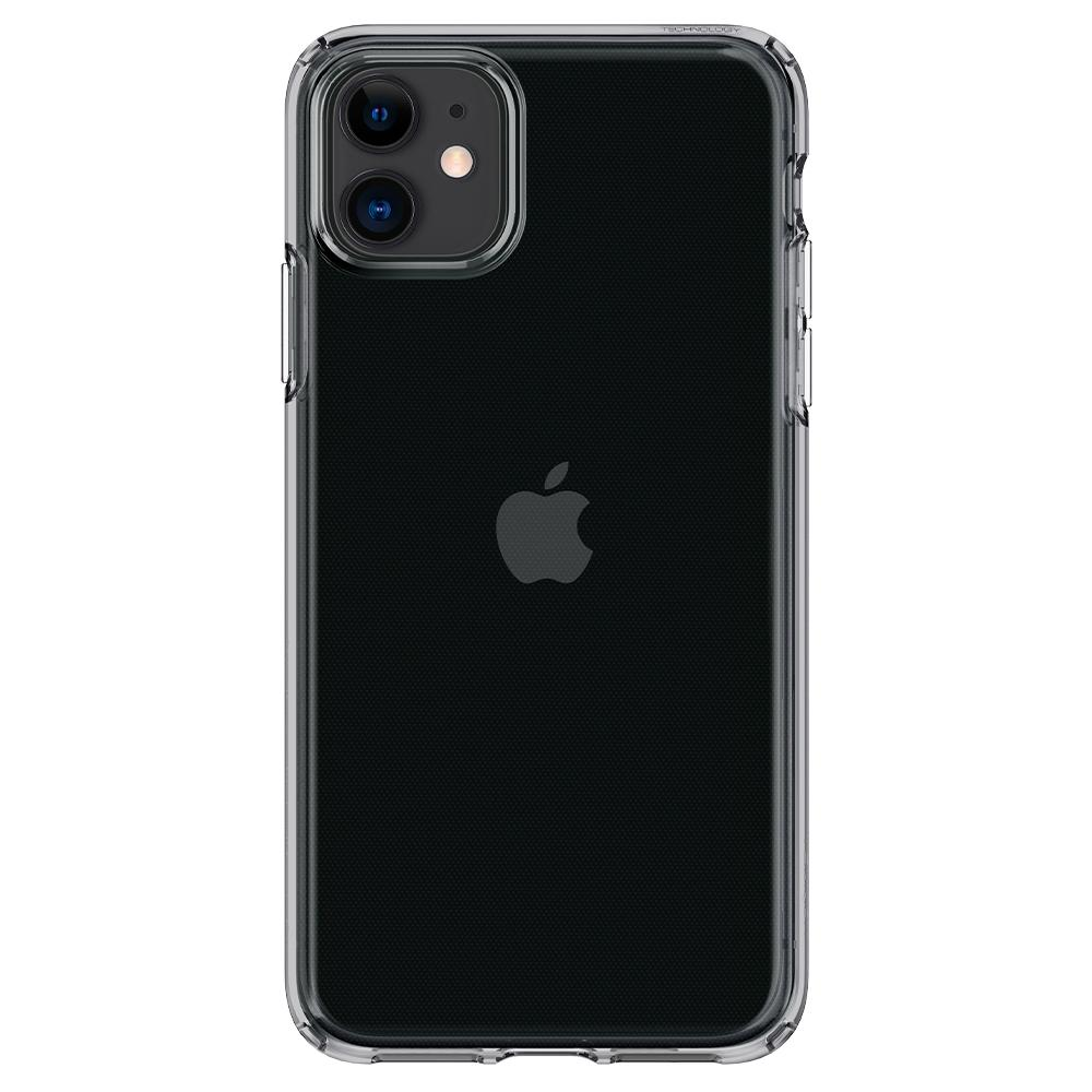 Liquid Crystal	Case	Space Crystal	facing backwards showing the back design with the camera cutout on the	iPhone 11	device.