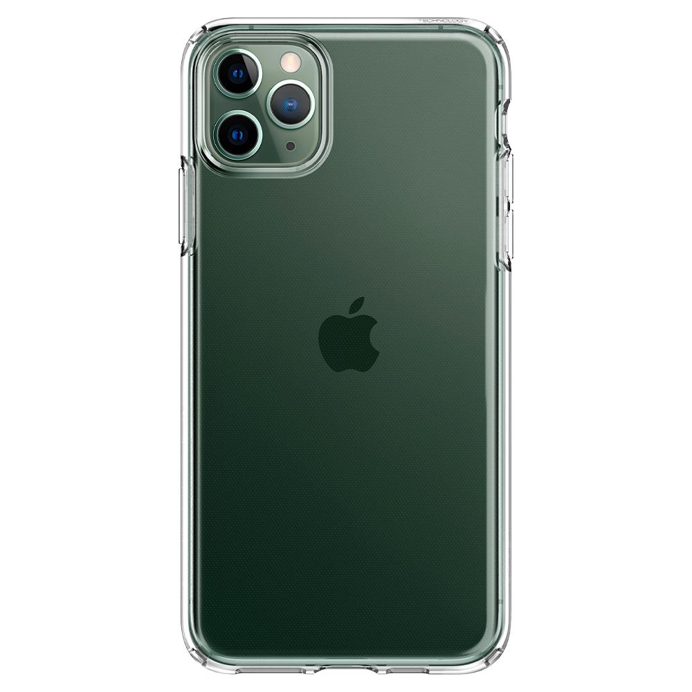 Liquid Crystal	Case	Crystal Clear	facing backwards showing the back design with the camera cutout on the	iPhone 11 PRO	device.
