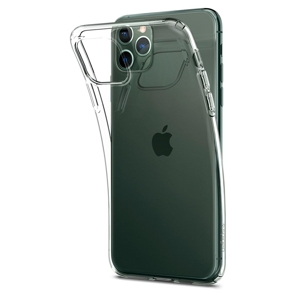 Liquid Crystal	Case	Crystal Clear	attached and bending away from the	iPhone 11 PRO	device.