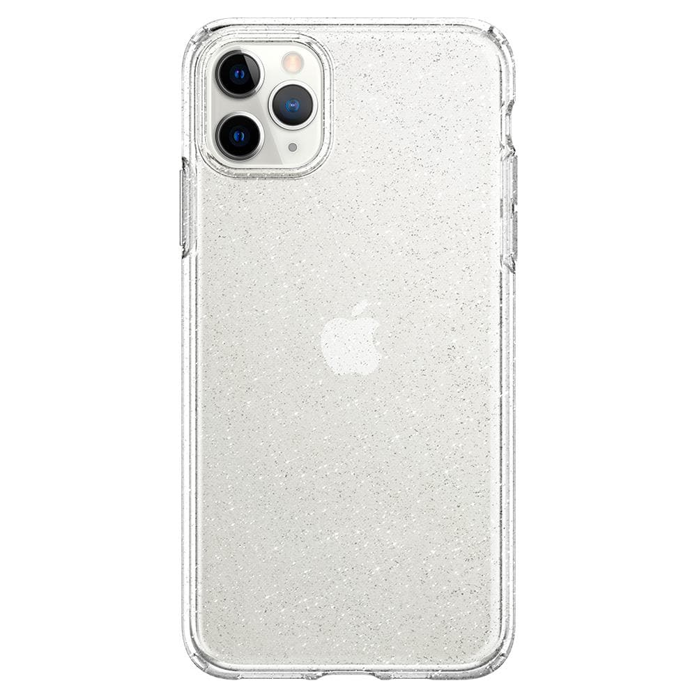 Liquid Crystal Glitter	Case	Crystal Q	facing backwards showing the back design with the camera cutout on the	iPhone 11 PRO MAX	device.