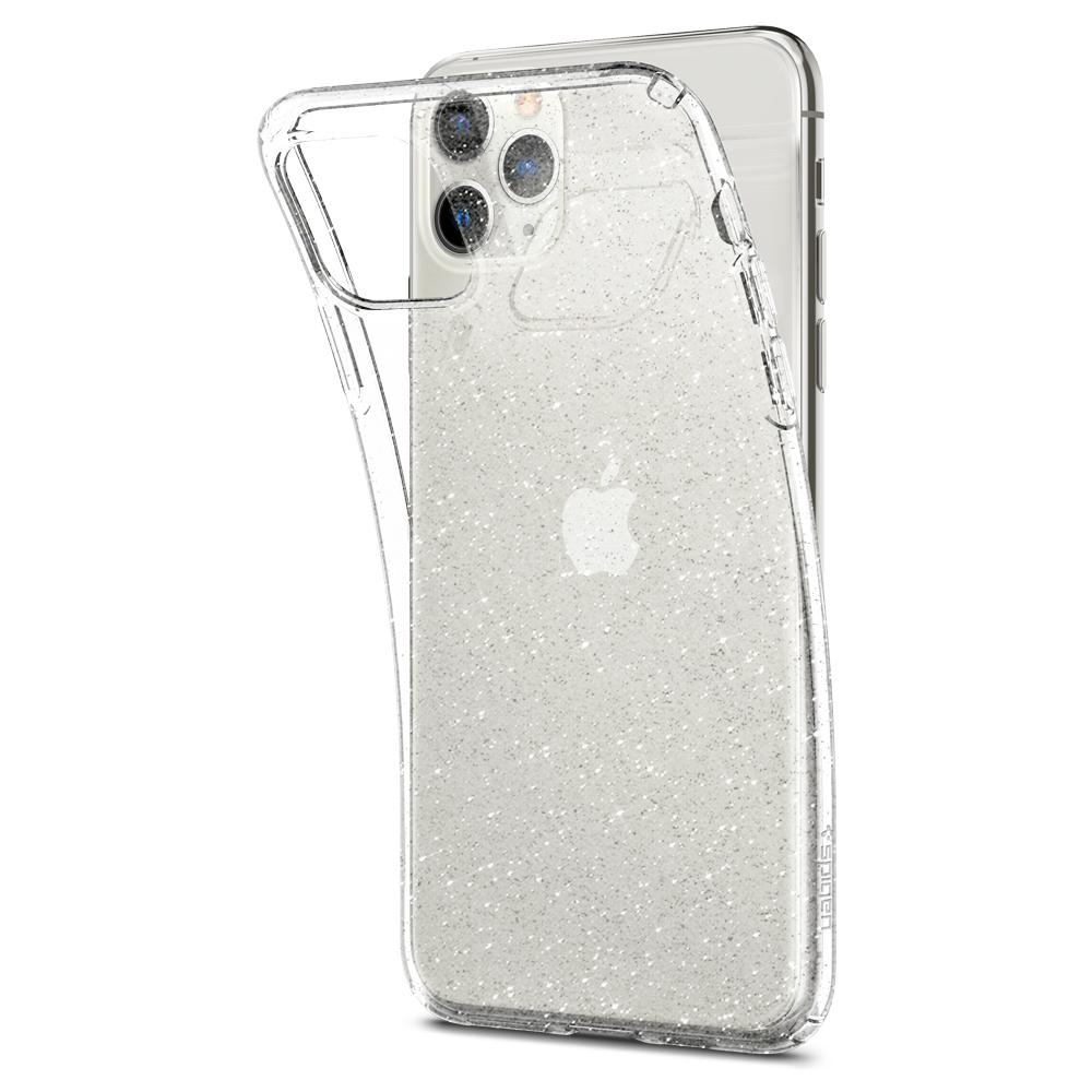 Liquid Crystal Glitter	Case	Crystal Q	attached and bending away from the	iPhone 11 PRO MAX	device.