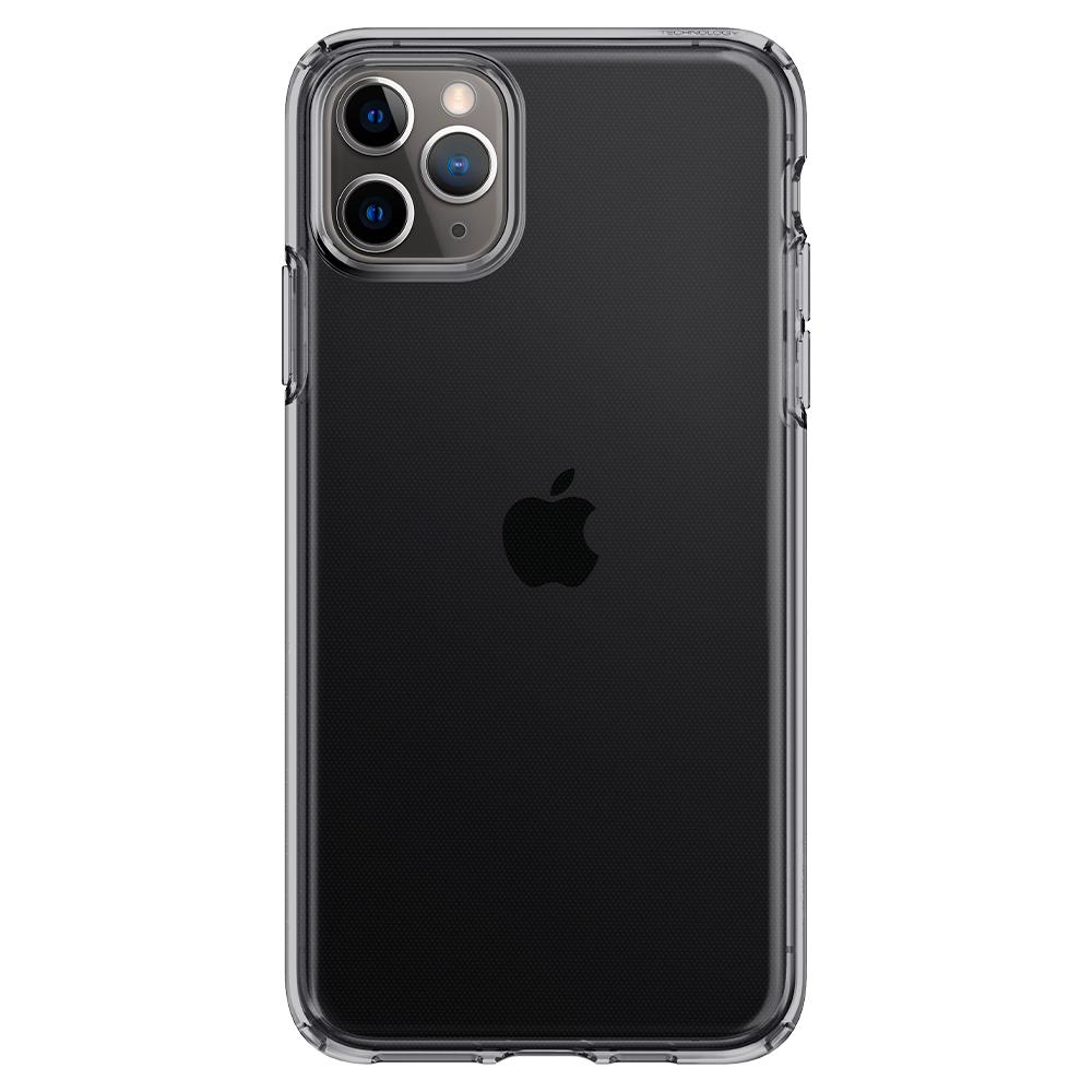Liquid Crystal	Case	Space Crystal	facing backwards showing the back design with the camera cutout on the	iPhone 11 PRO	device.