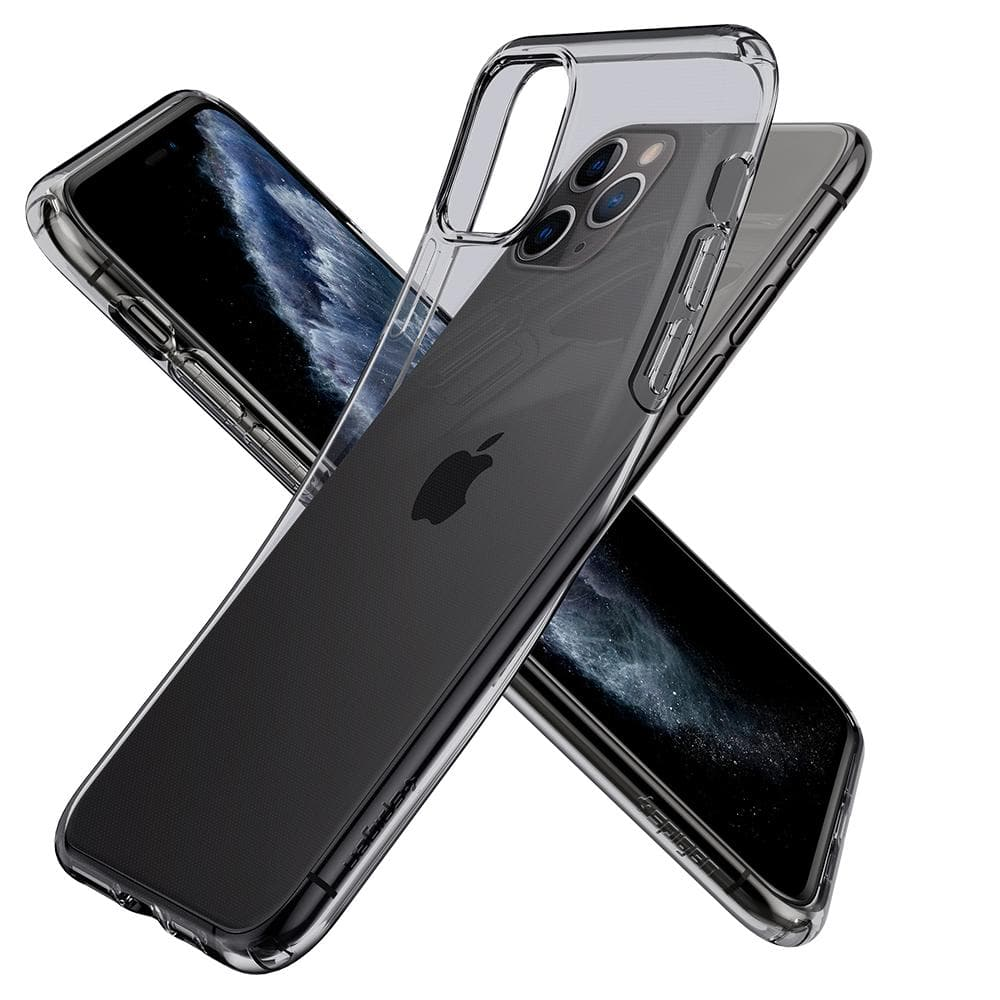 Liquid Crystal	Case	Space Crystal	back design overlapping the front view of the	iPhone 11 PRO	device.