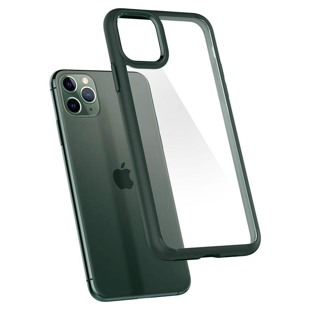 Ultra Hybrid	Case	MidnightGreen	back design and a back view of the	iPhone 11 PRO MAX	device.