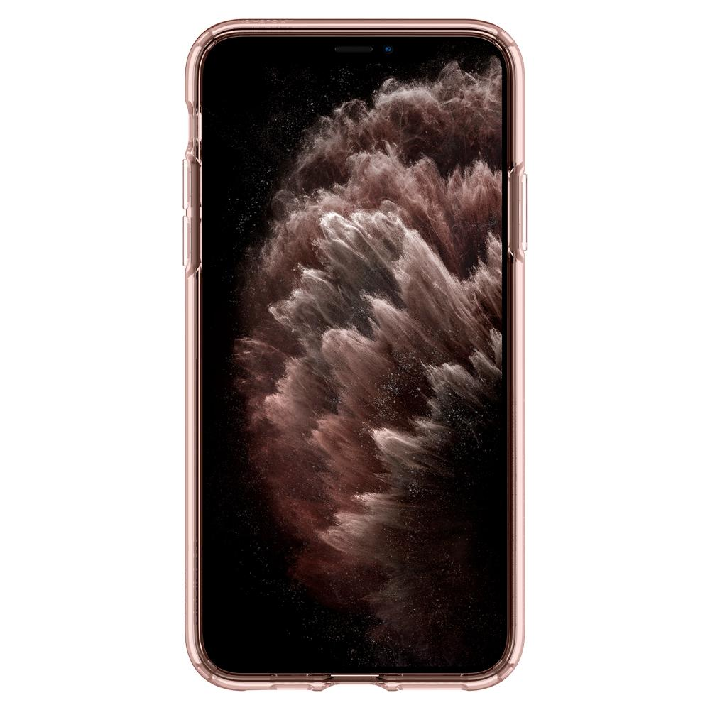 Ultra Hybrid	Case	RoseCrystal	showing a front facing view of the edges around the	iPhone 11 Pro	device.