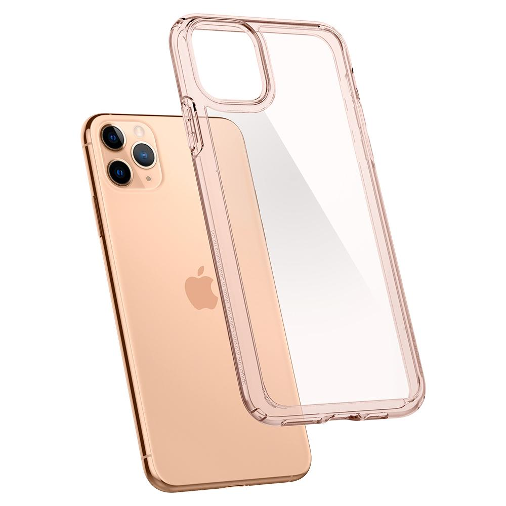 Ultra Hybrid	Case	RoseCrystal	back design and a back view of the	iPhone 11 Pro	device.
