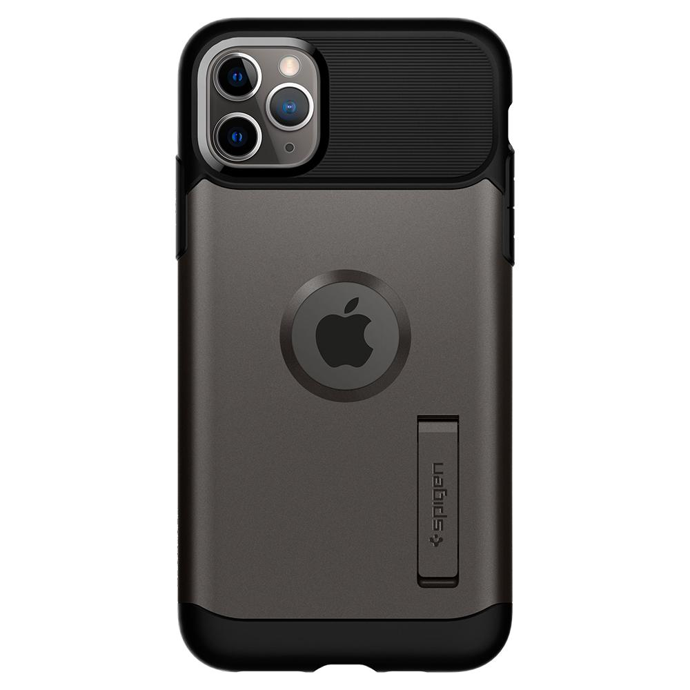Slim Armor	Case	Gunmetal	facing backwards showing the back design with the camera cutout on the	iPhone 11 PRO MAX	device.