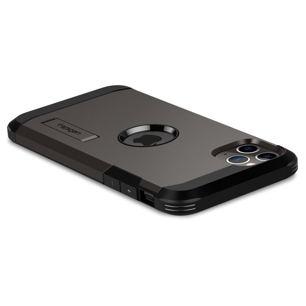 Tough Armor	Case	XP Gunmetal	showing the back design on the	iPhone 11 PRO	device.