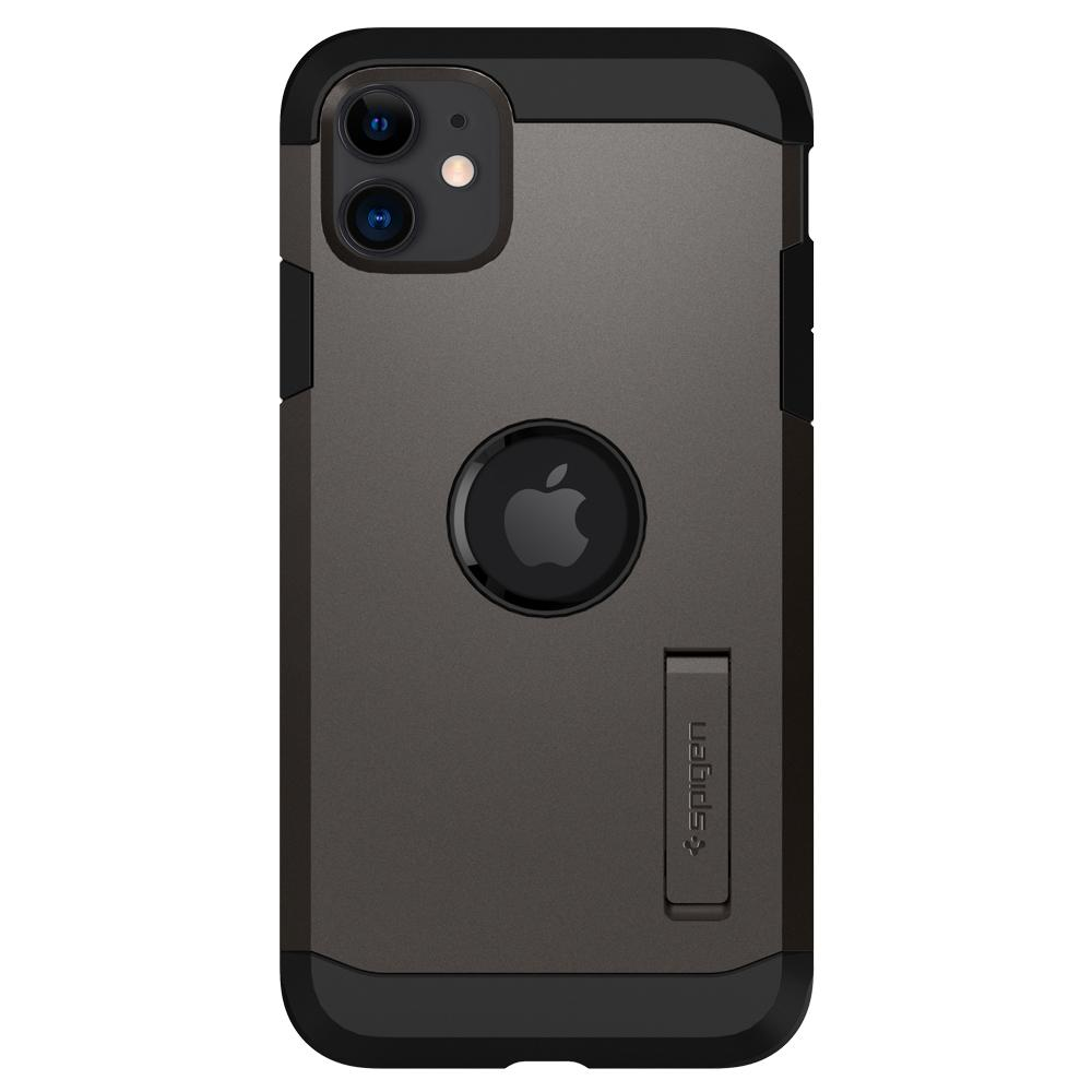 Tough Armor	Case	XP Gunmetal	facing backwards showing the back design with the camera cutout on the	iPhone 11	device.