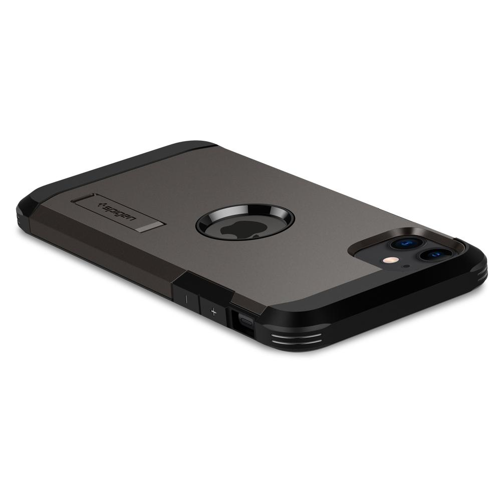 Tough Armor	Case	XP Gunmetal	showing the back design on the	iPhone 11	device.