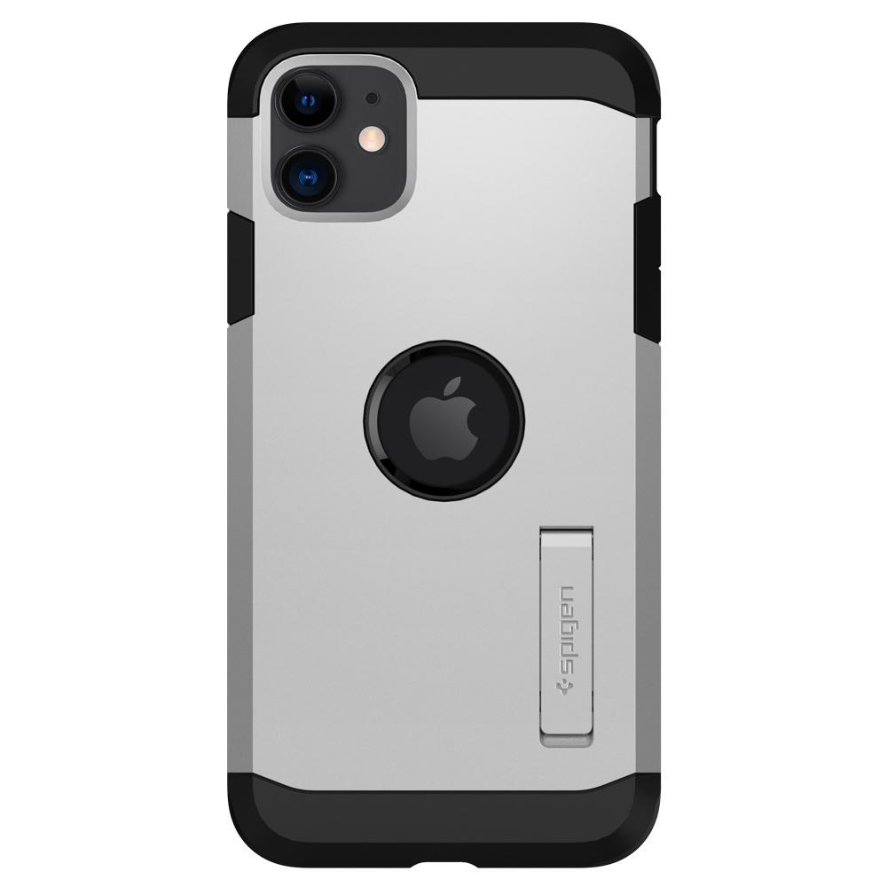 Tough Armor	Case	XP Satin Silver	facing backwards showing the back design with the camera cutout on the	iPhone 11	device.