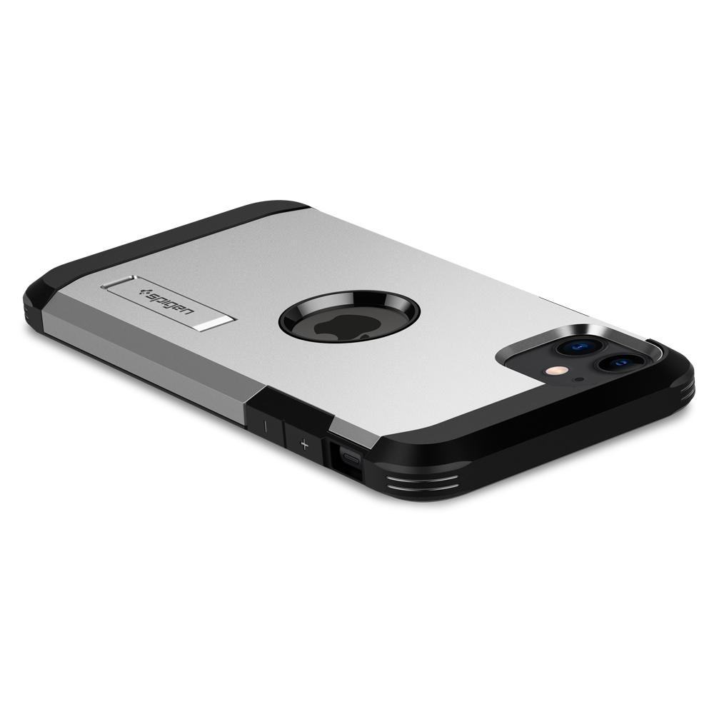 Tough Armor	Case	XP Satin Silver	showing the back design on the	iPhone 11	device.
