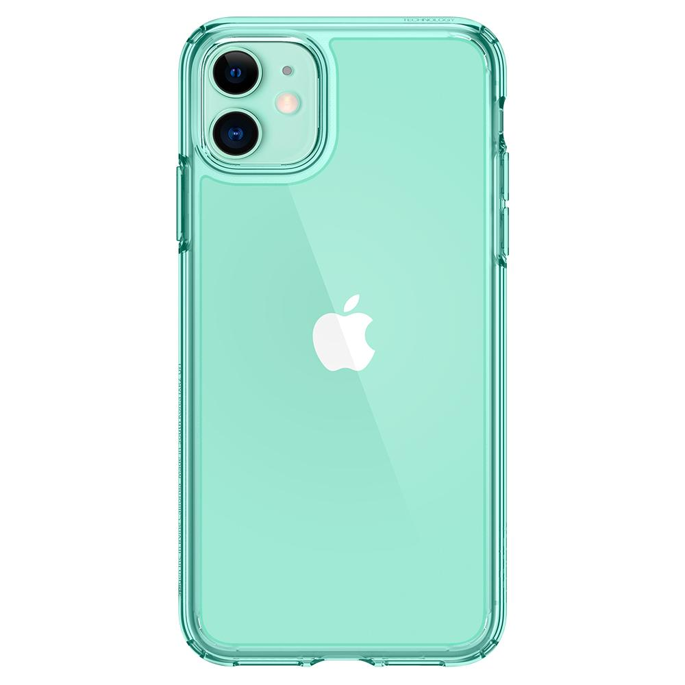 Ultra Hybrid	Case	Green Crystal	facing backwards showing the back design with the camera cutout on the	iPhone 11	device.