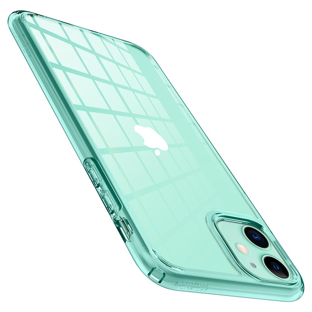 Ultra Hybrid	Case	Green Crystal	showing the back design on the	iPhone 11	device.