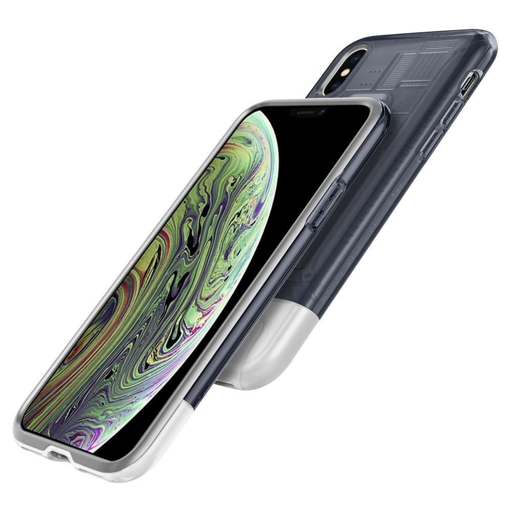(Premium) Classic C1	Graphite	Case	back design overlapping the front view of the	iPhone X	device.