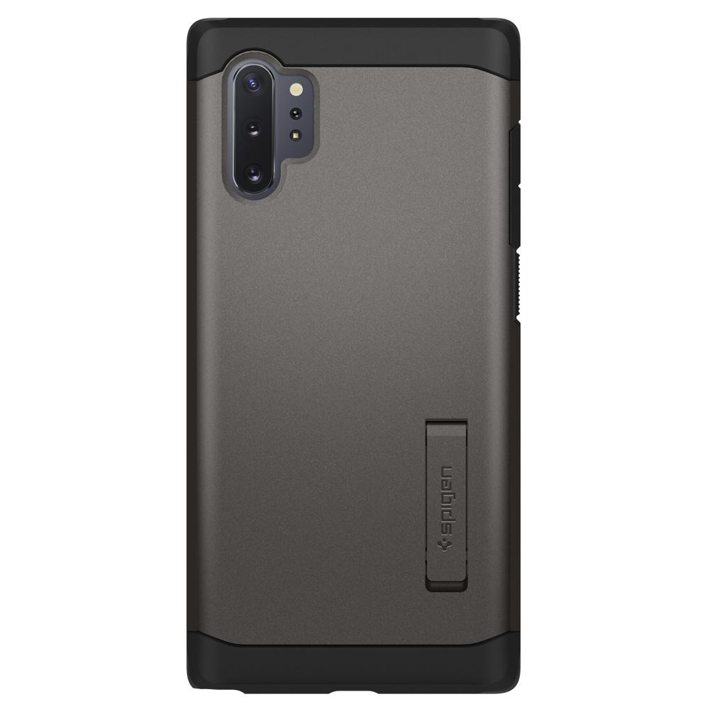 Galaxy Note 10 Plus / 10 Plus 5G Case Tough Armor in gunmetal showing the back