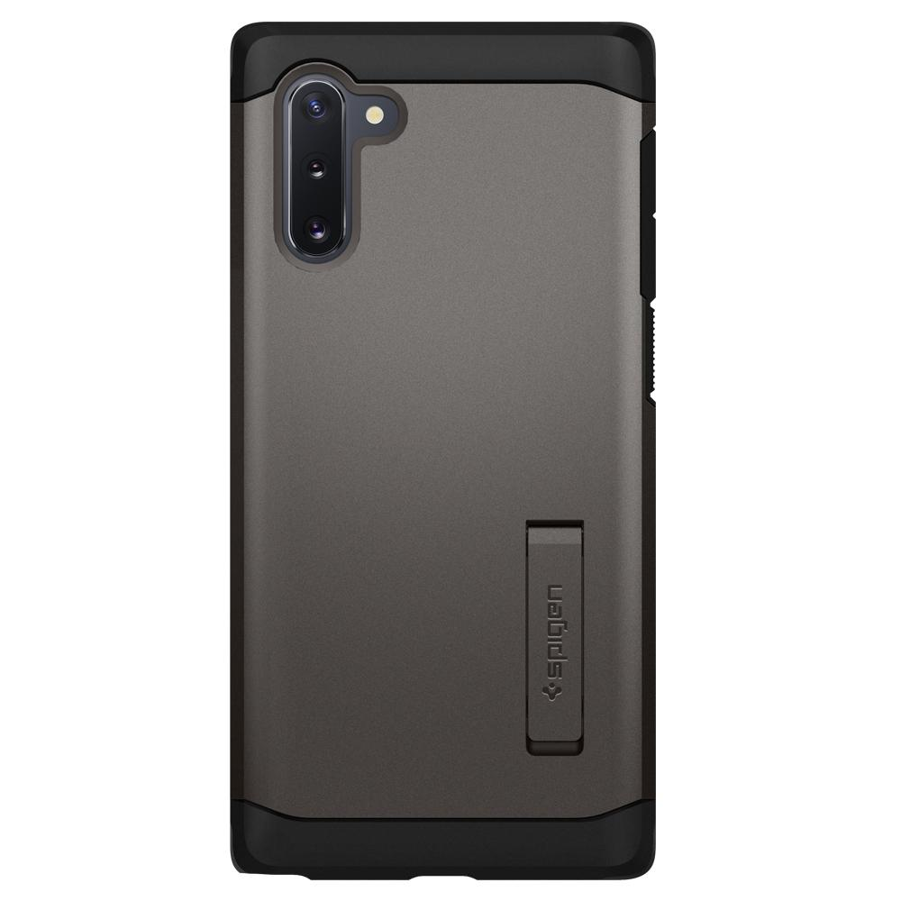 Galaxy Note 10 Case Tough Armor in gunmetal showing the back