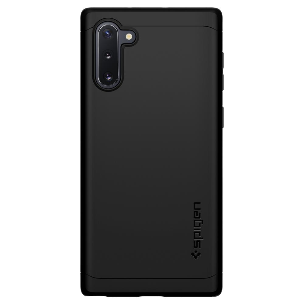 Galaxy Note 10 Case Thin Fit Classic in black showing the back