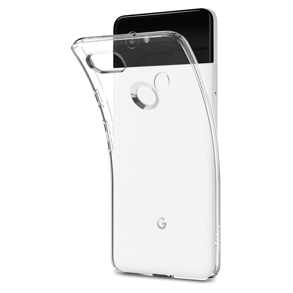Liquid Crystal	Crystal Clear	Case	bent away and detaching from the	Pixel 2 XL	device.