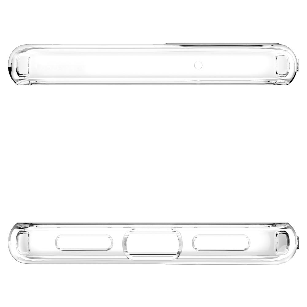 Liquid Crystal	Crystal Clear	Case	showing the top and bottom with precise cutouts.