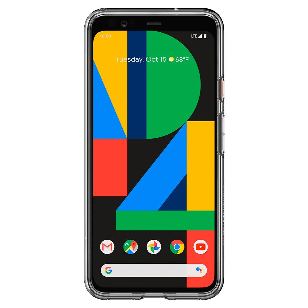Liquid Air	Matte Black	Case	showing a front facing view of the edges around the	Pixel 4XL	device.