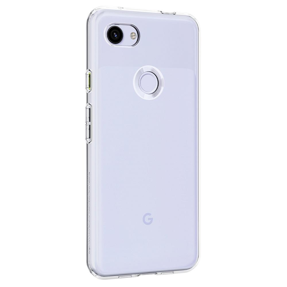 Liquid Crystal	Crystal Clear	Case	facing backwards showing the back design with the camera cutout on the	Pixel 3a XL	device.