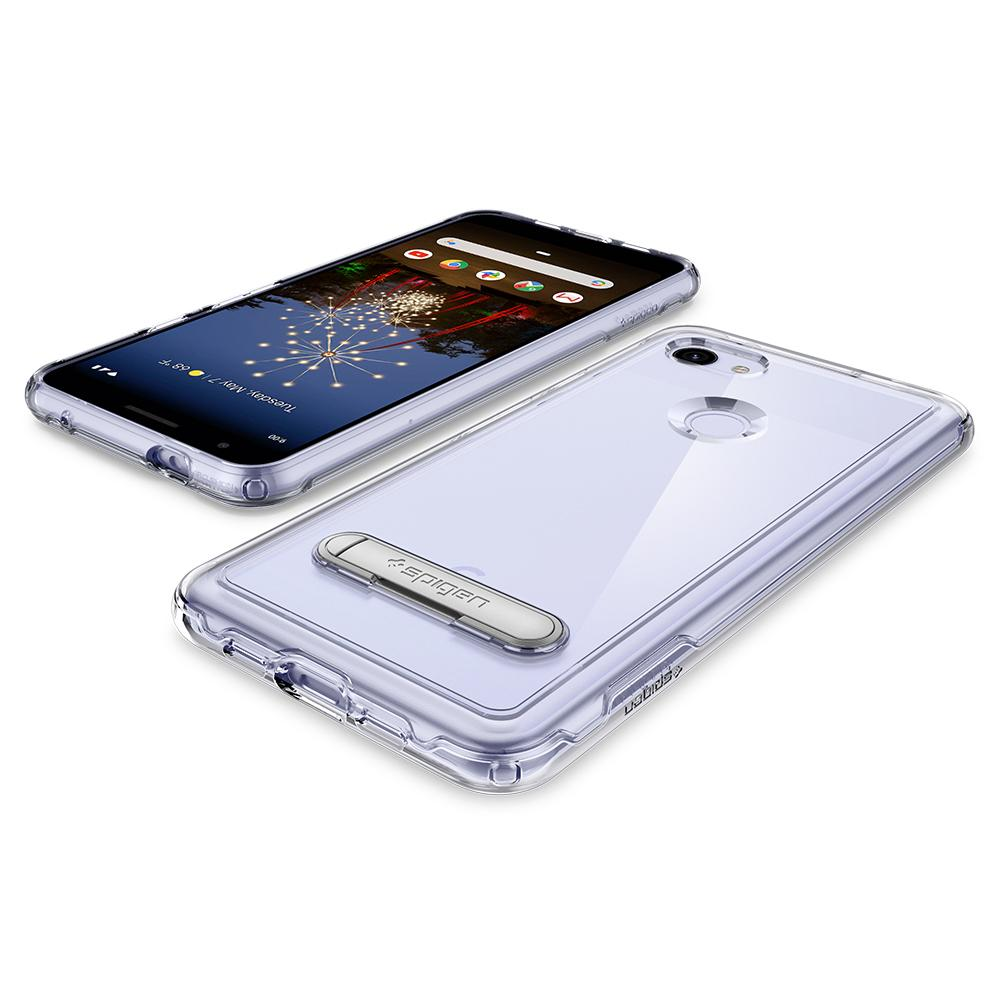 Slim Armor Crystal	Crystal Clear	Case	back design and a front view of the edge around the	Pixel 3a XL	device.