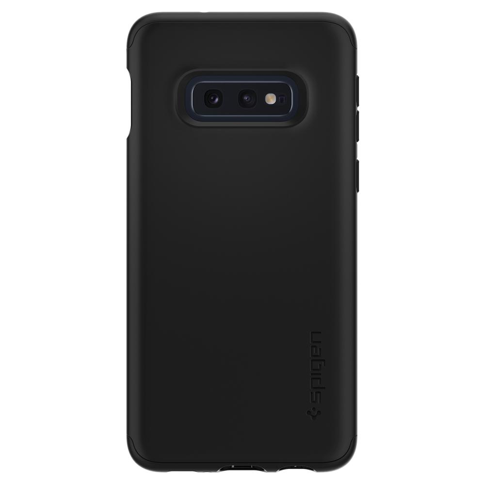 Thin Fit 360	Black	Case	facing backwards showing the back design with the camera cutout on the	Galaxy S10e	device.