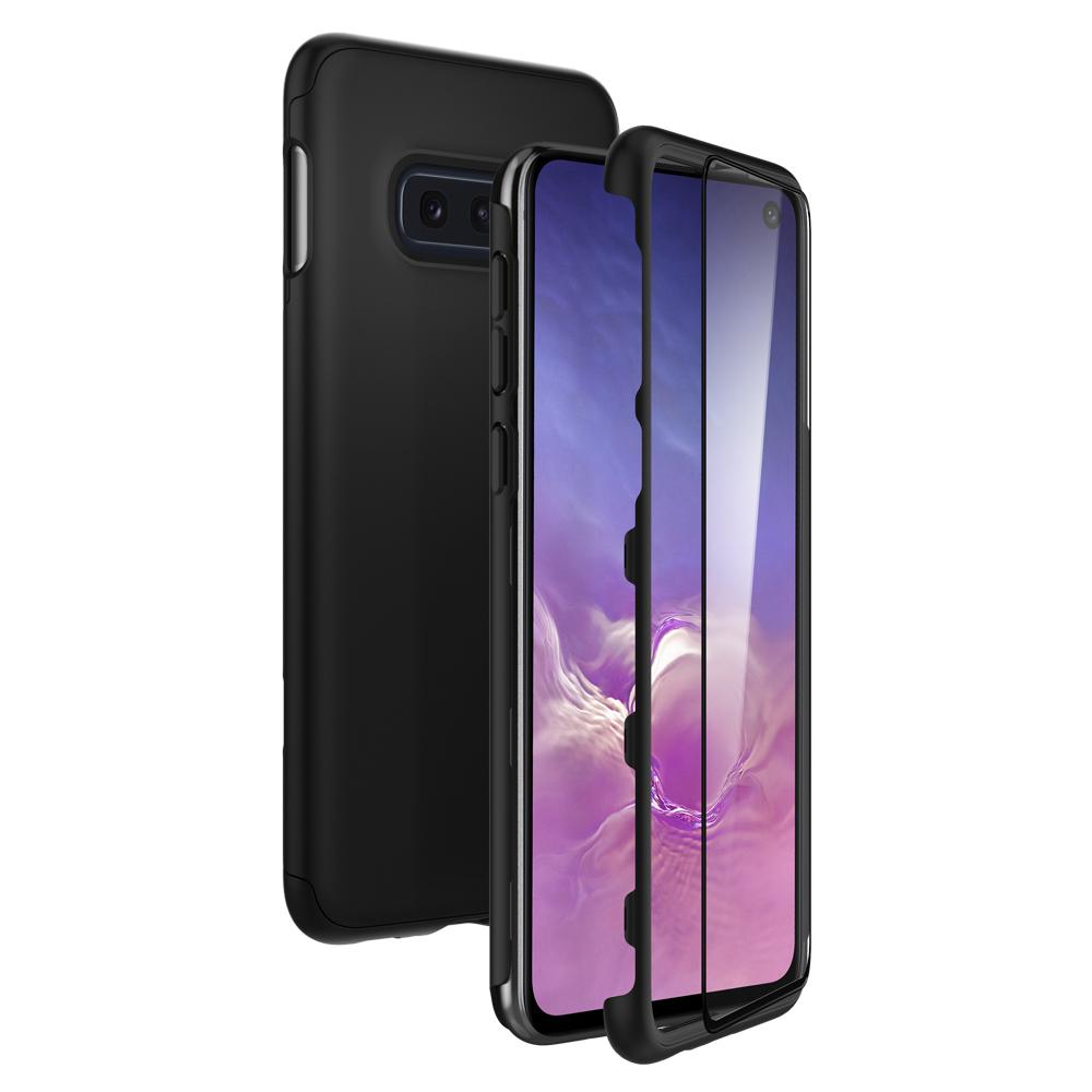 Thin Fit 360	Black	Case front design overlapping the back view of the	Galaxy S10e	device.