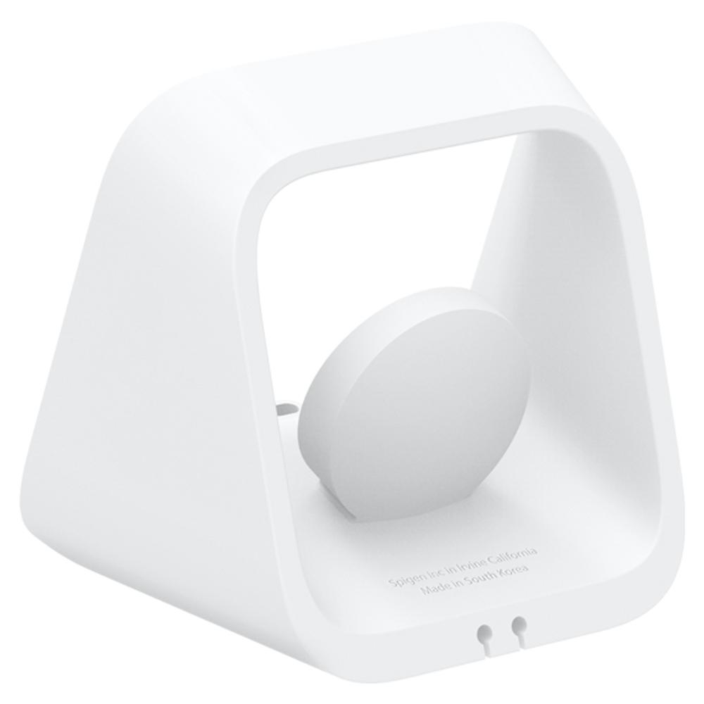 Apple 2-in-1 Stand S316 in white showing the back and side without any devices charging