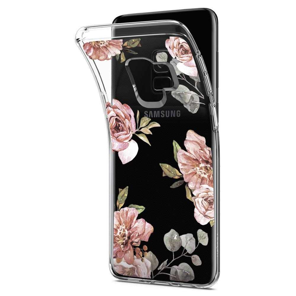 Liquid Crystal Blossom	Flower	Case	bent away and detaching from the	Galaxy S9	device.