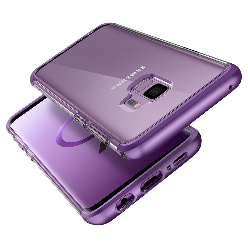 Neo Hybrid NC	Lilac Purple	Case	back design and a front view of the edge around the	Galaxy S9	device.