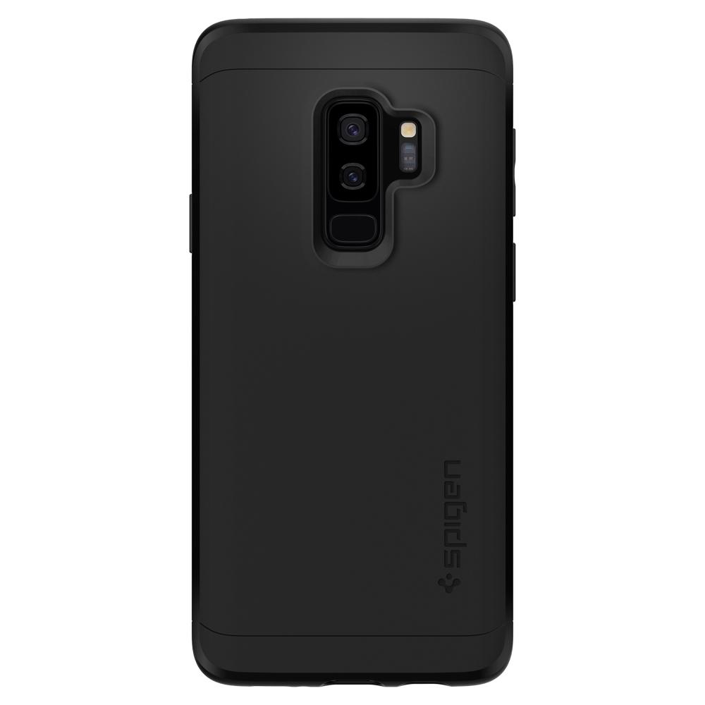 Thin Fit 360	Black	Case	facing backwards showing the back design with the camera cutout on the	Galaxy S9+	device.