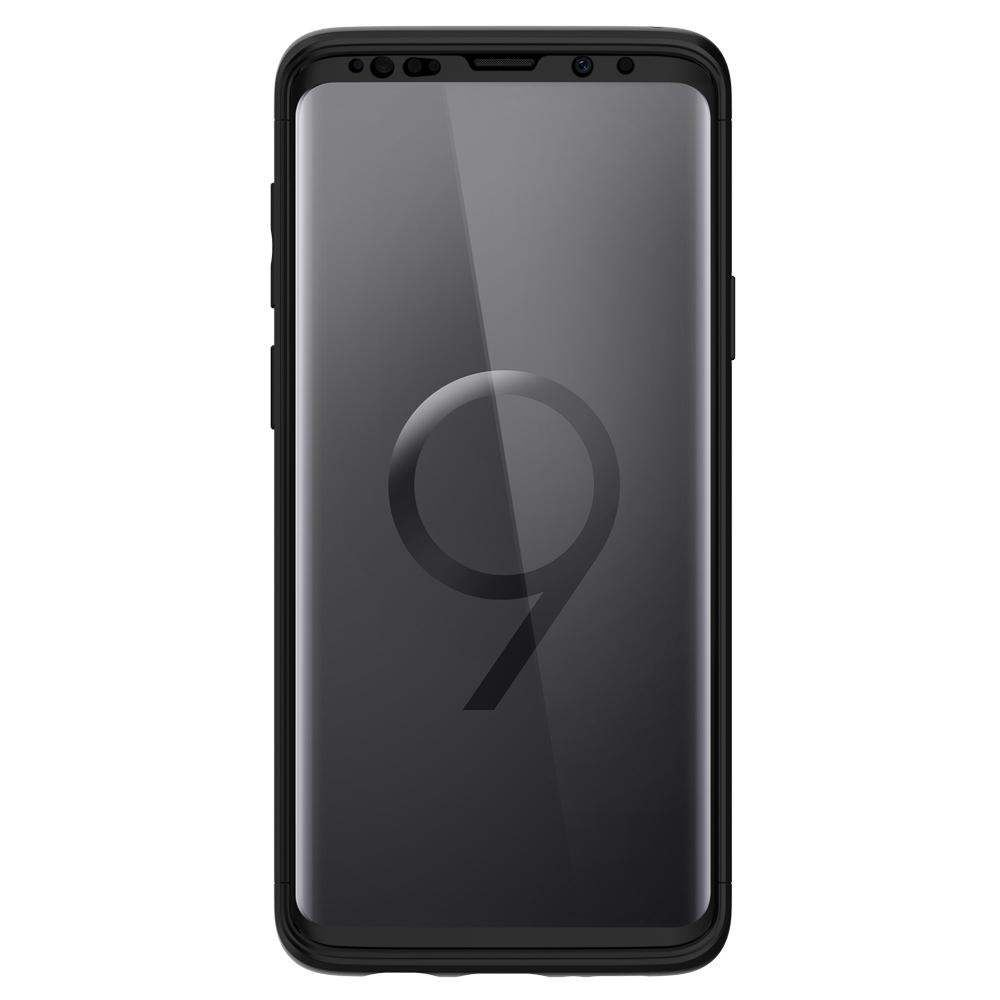 Thin Fit 360	Black	Case	showing a front facing view of the edges around the	Galaxy S9+	device.