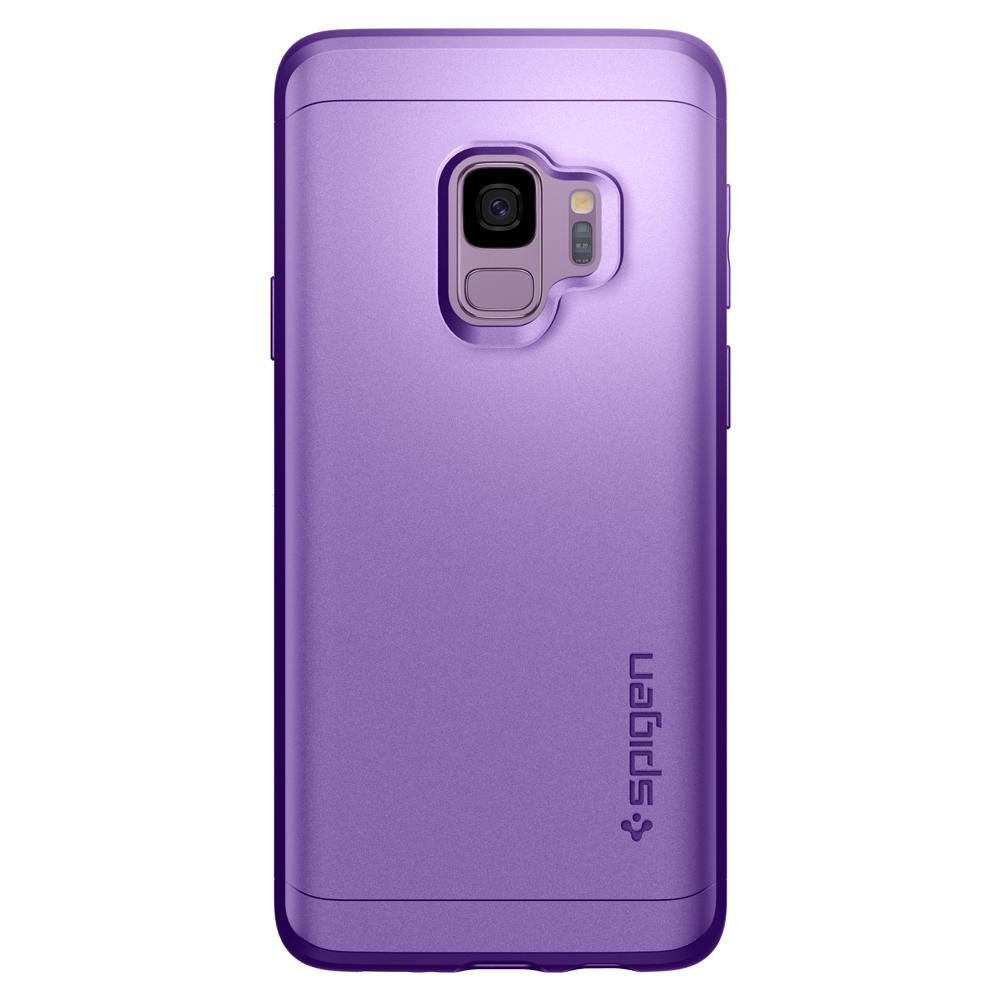 Thin Fit 360	Lilac Purple	Case	facing backwards showing the back design with the camera cutout on the	Galaxy S9	device.