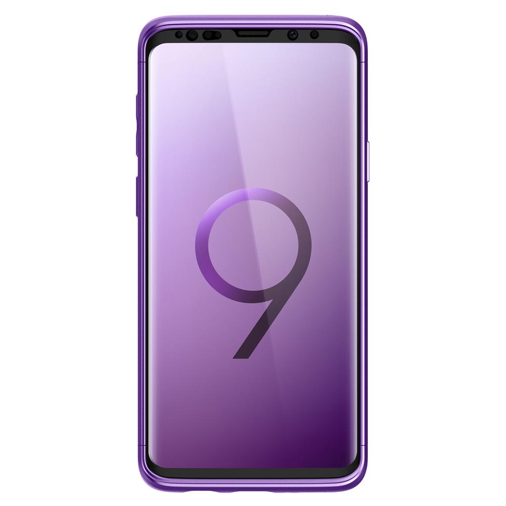 Thin Fit 360	Lilac Purple	Case	showing a front facing view of the edges around the	Galaxy S9	device.