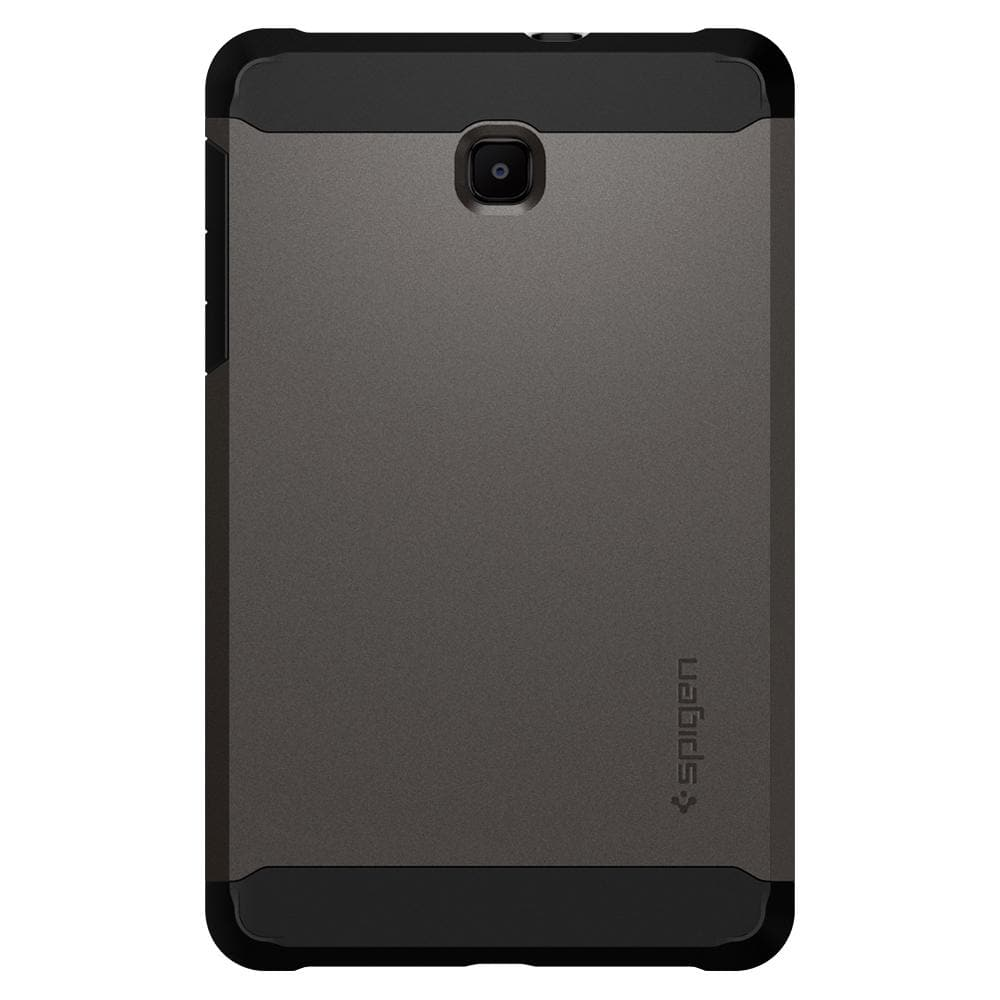 Tough Armor	Gunmetal	Case	facing backwards showing the back design with the camera cutout on the	Galaxy Tab A 8.0 (2018)	device.
