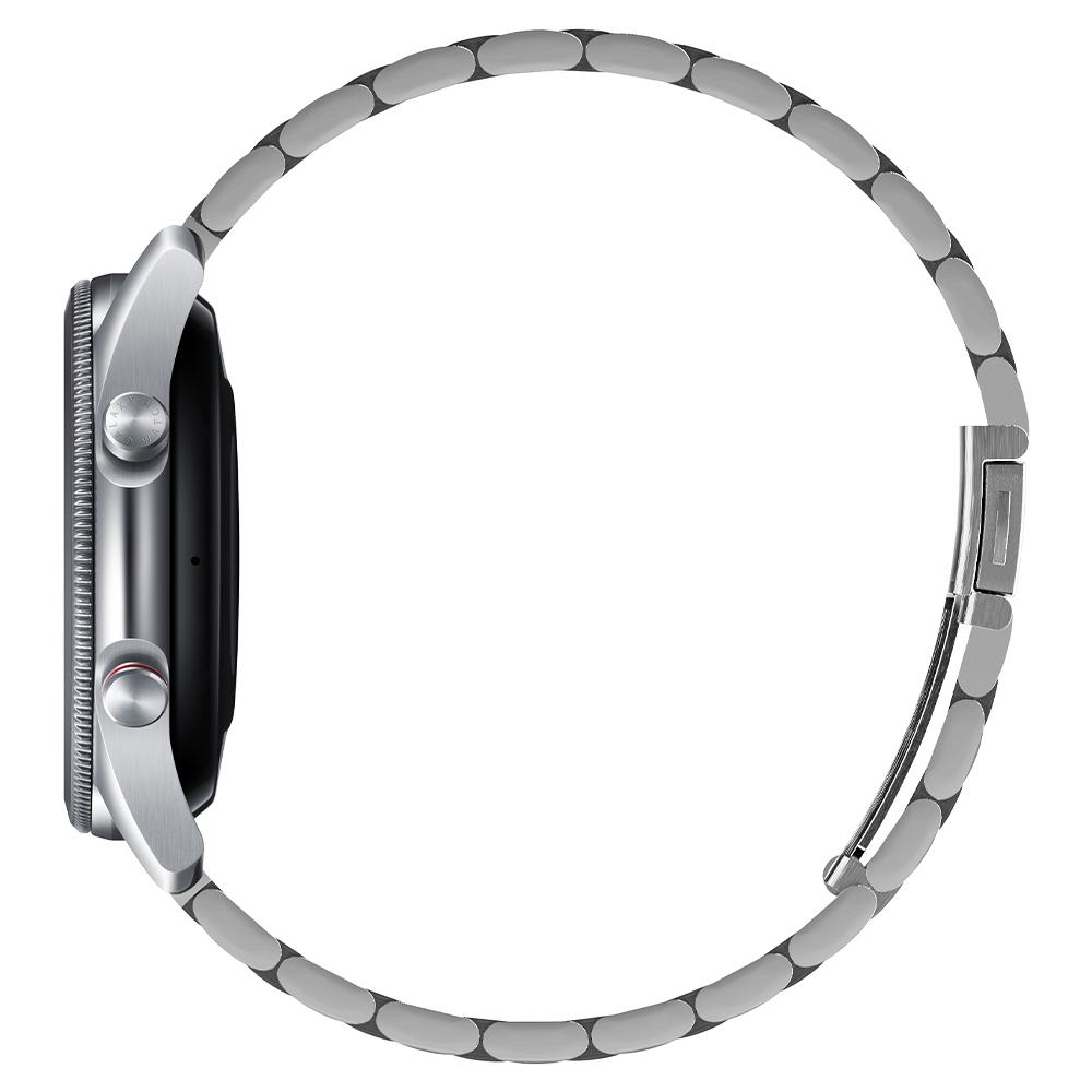 Galaxy Watch 3 (45mm) Watch Band Modern Fit (22mm) in silver showing the side on watch