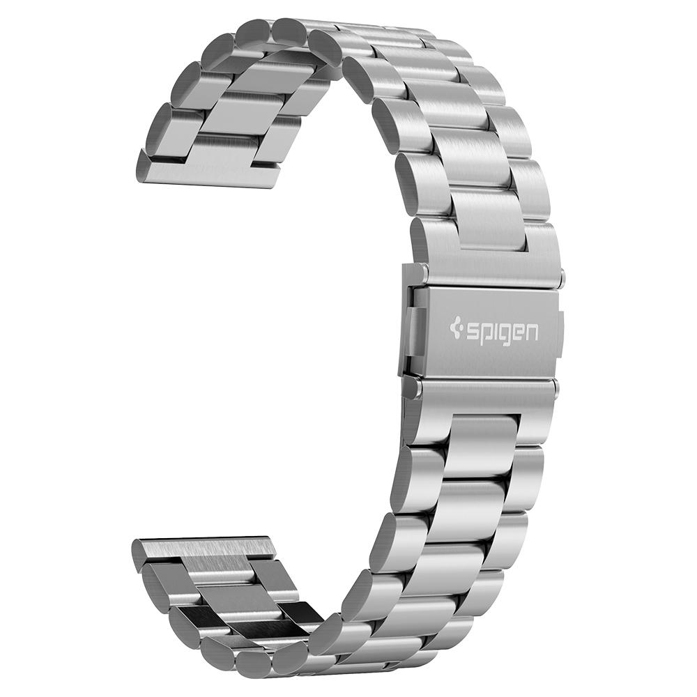 Galaxy Watch 3 (45mm) Watch Band Modern Fit (22mm) in silver showing the band only at an angle