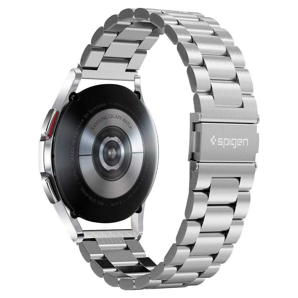 Apple Watch Band Modern Fit	Silver	showing the clasp design on the