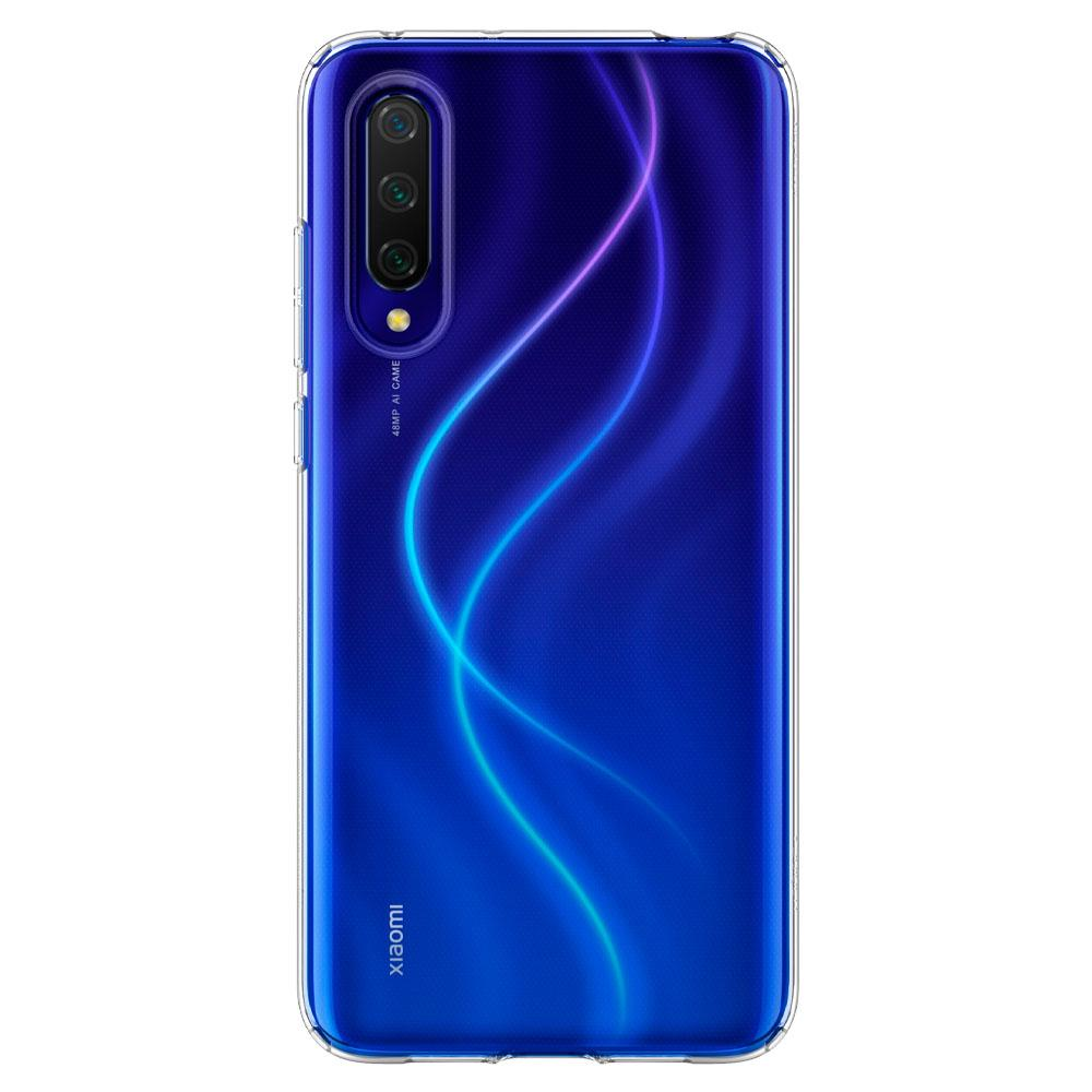 Liquid Crystal	Crystal Clear	Case	facing backwards showing the back design with the camera cutout on the	Mi 9 Lite	device.
