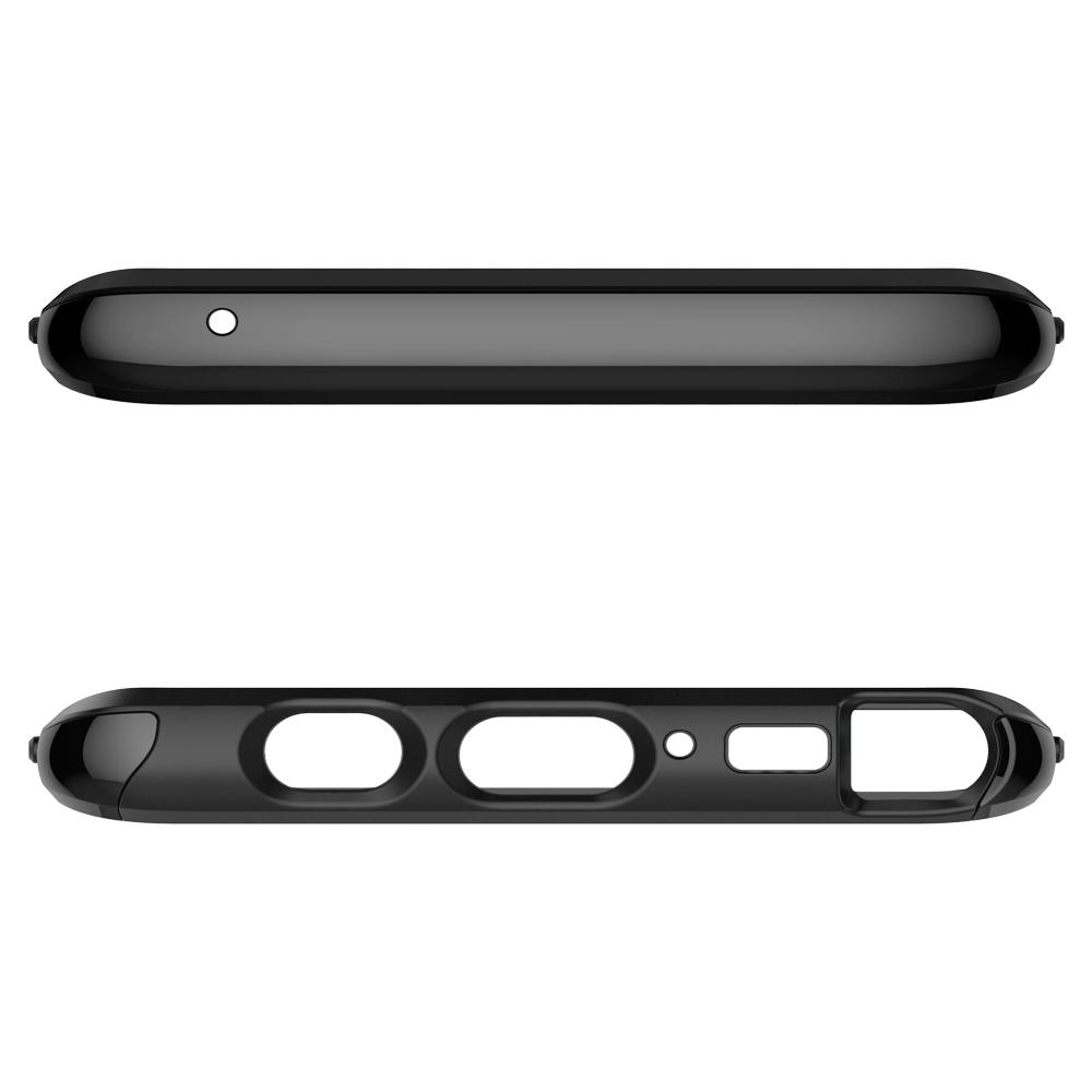 Neo Hybrid	Gunmetal	Case	showing the top and bottom with precise cutouts.