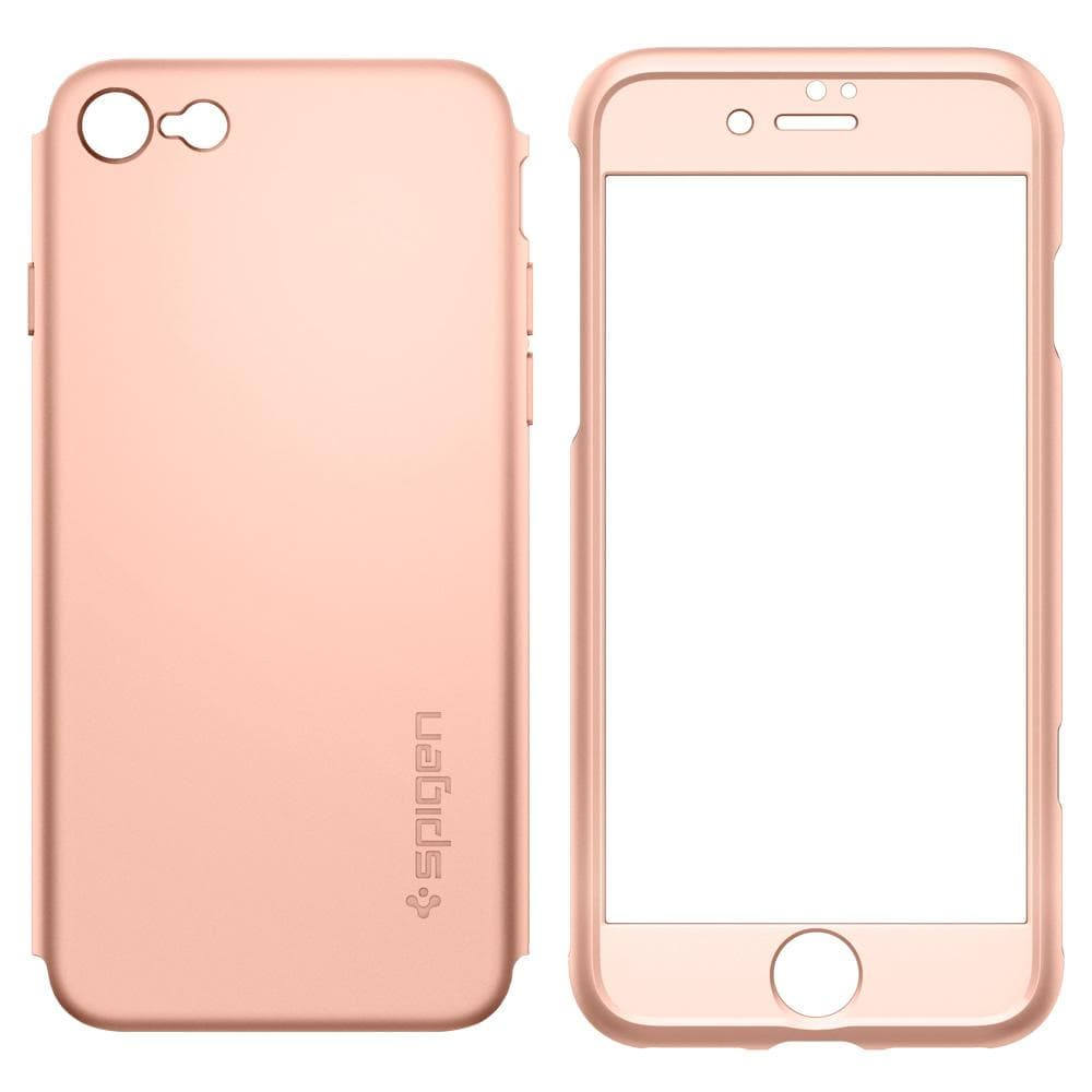 Thin Fit 360	Blush Gold	Case	separated showing the back PC layer and front PC layer