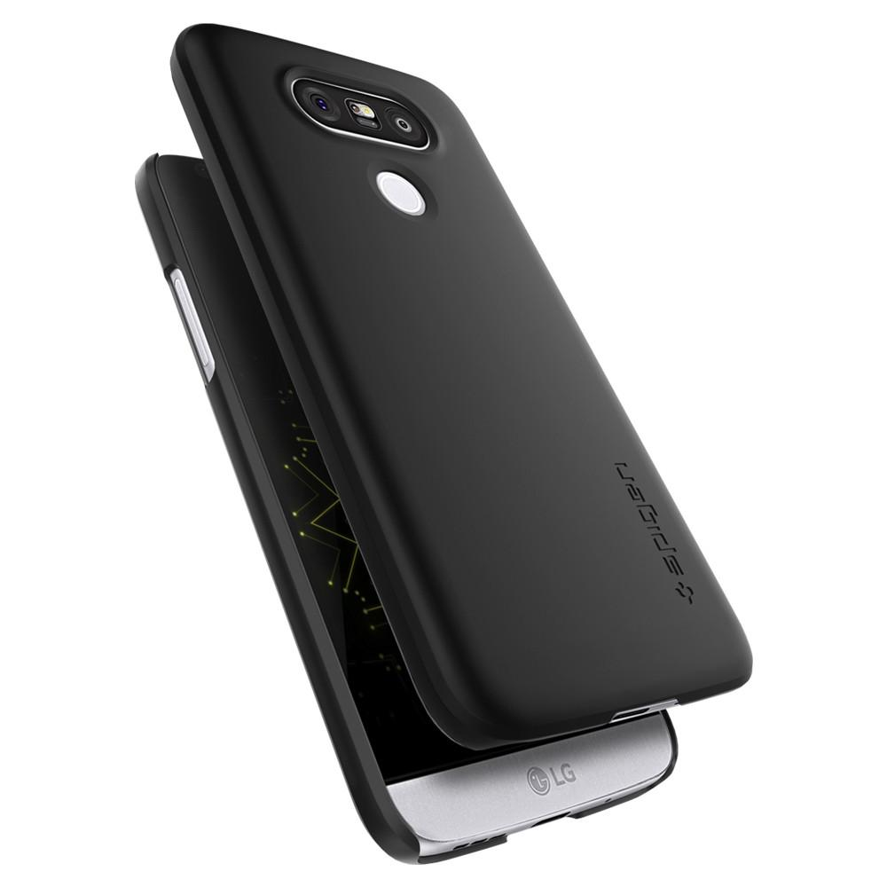Thin Fit	Black	Case	back design and a front view of the edge around the	LG G5	device.