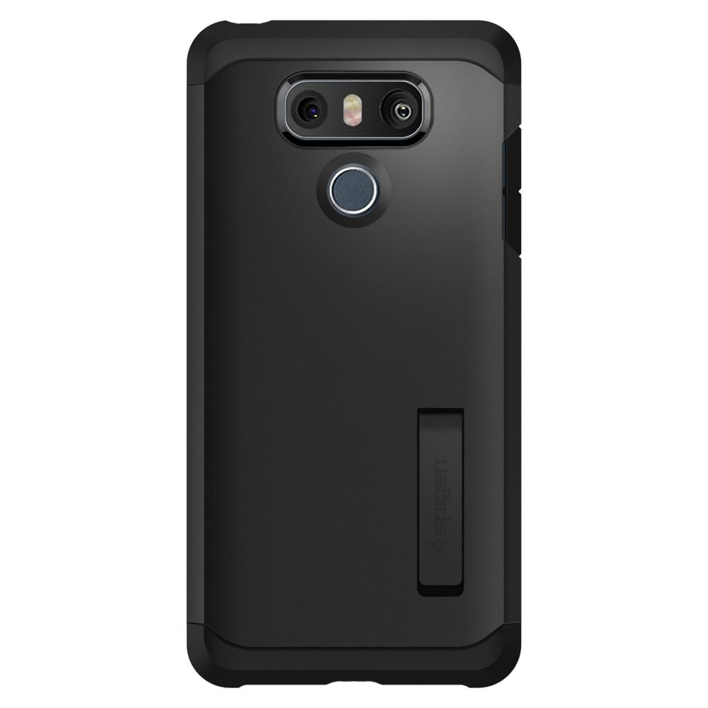 Tough Armor	Black	Case	facing backwards showing the back design with the camera cutout on the	LG G6	device.
