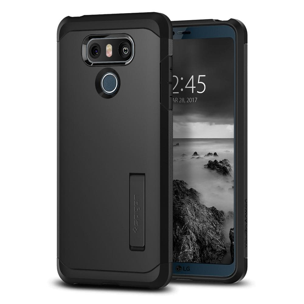 Tough Armor	Black	Case	back design and a front view of the edge around the	LG G6	device.