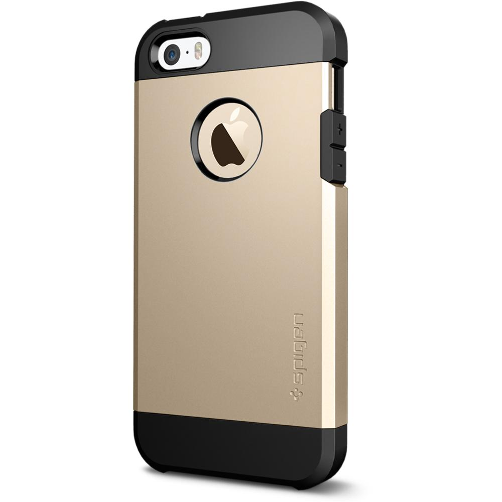 iPhone SE / 5S / 5 Case Tough Armor - Smooth Black / In Stock